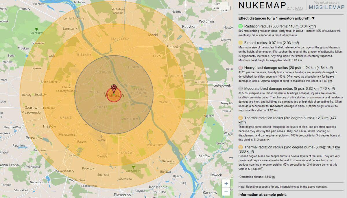 Wybuch bomby atomowej - 1000 kiloton