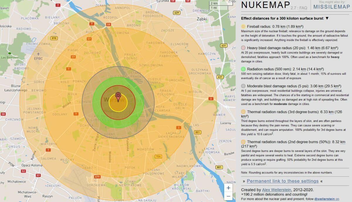Wybuch bomby atomowej - 300 kiloton