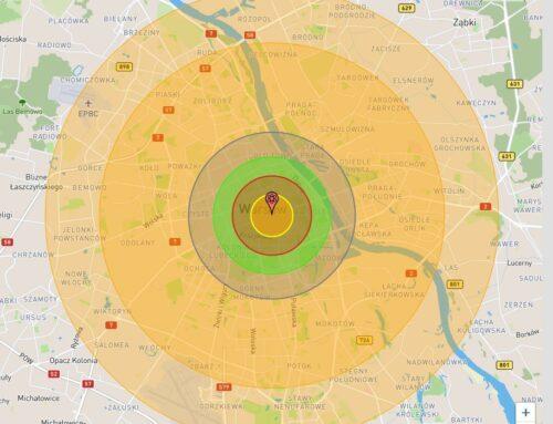 Radioaktywność 3 – Symulacja wybuchu bomby atomowej w Warszawie